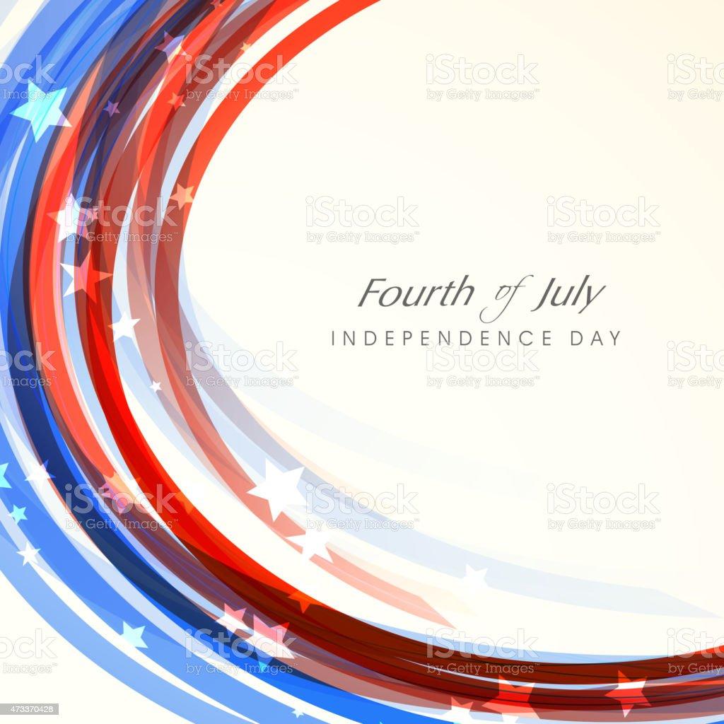 American Independence Day celebration. vector art illustration