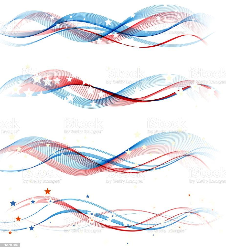 American Independence Day  design element vector art illustration