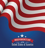 American independence day design. Fourth of July patriotic banner.