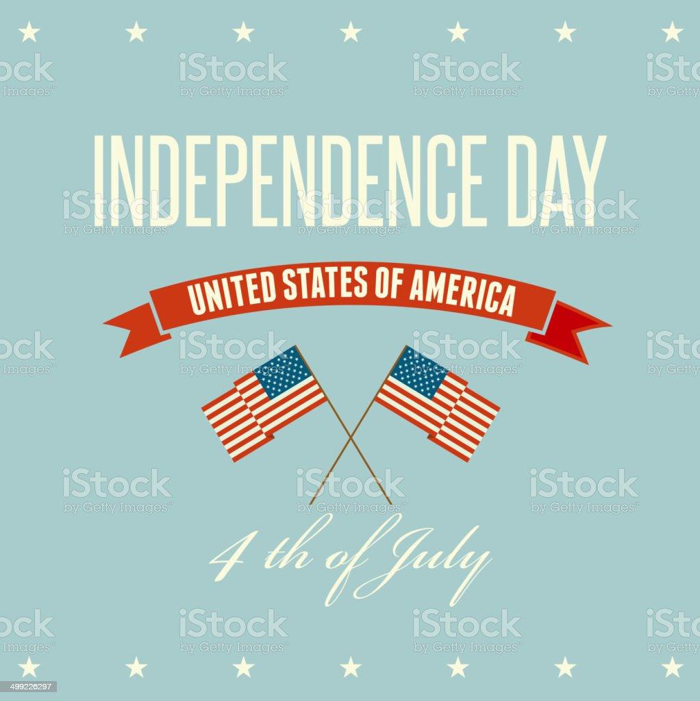 American Independence Day  Patriotic background. Flat design vector art illustration