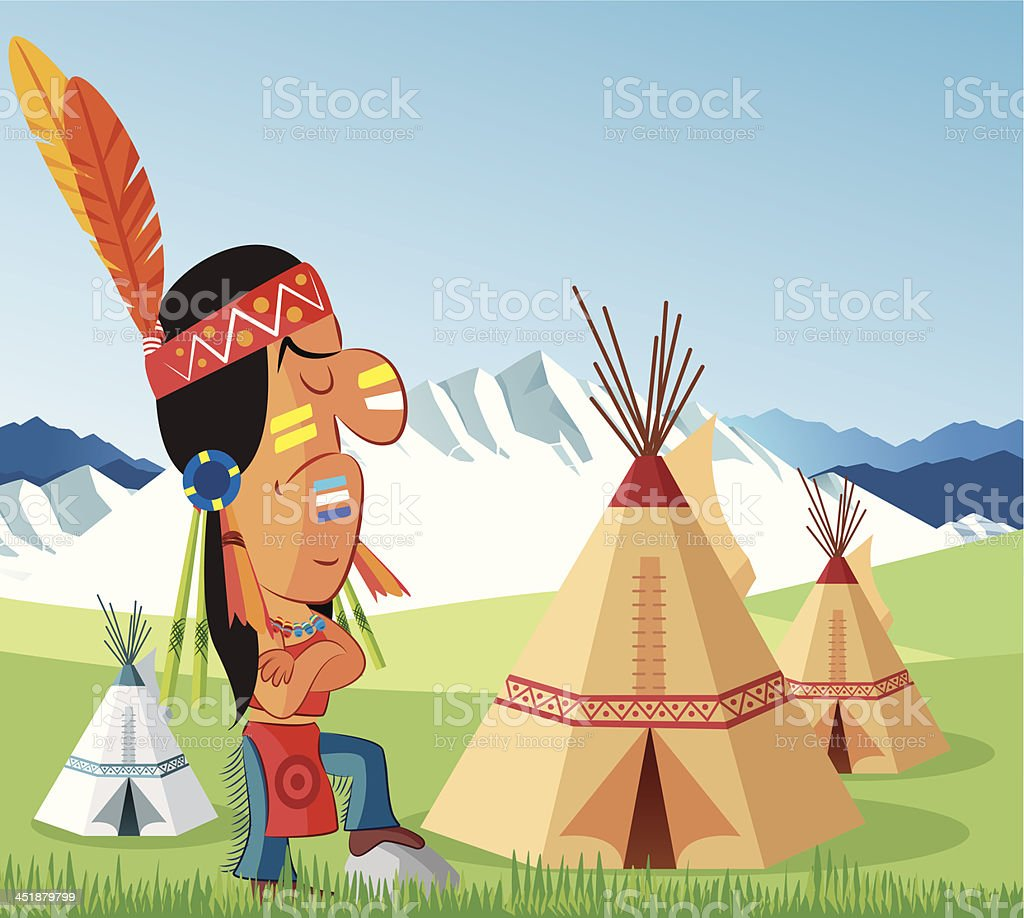 American Indian royalty-free stock vector art