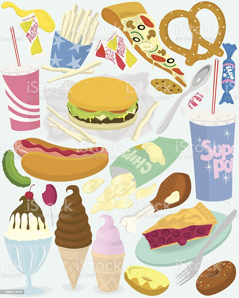 American Meal royalty-free stock vector art