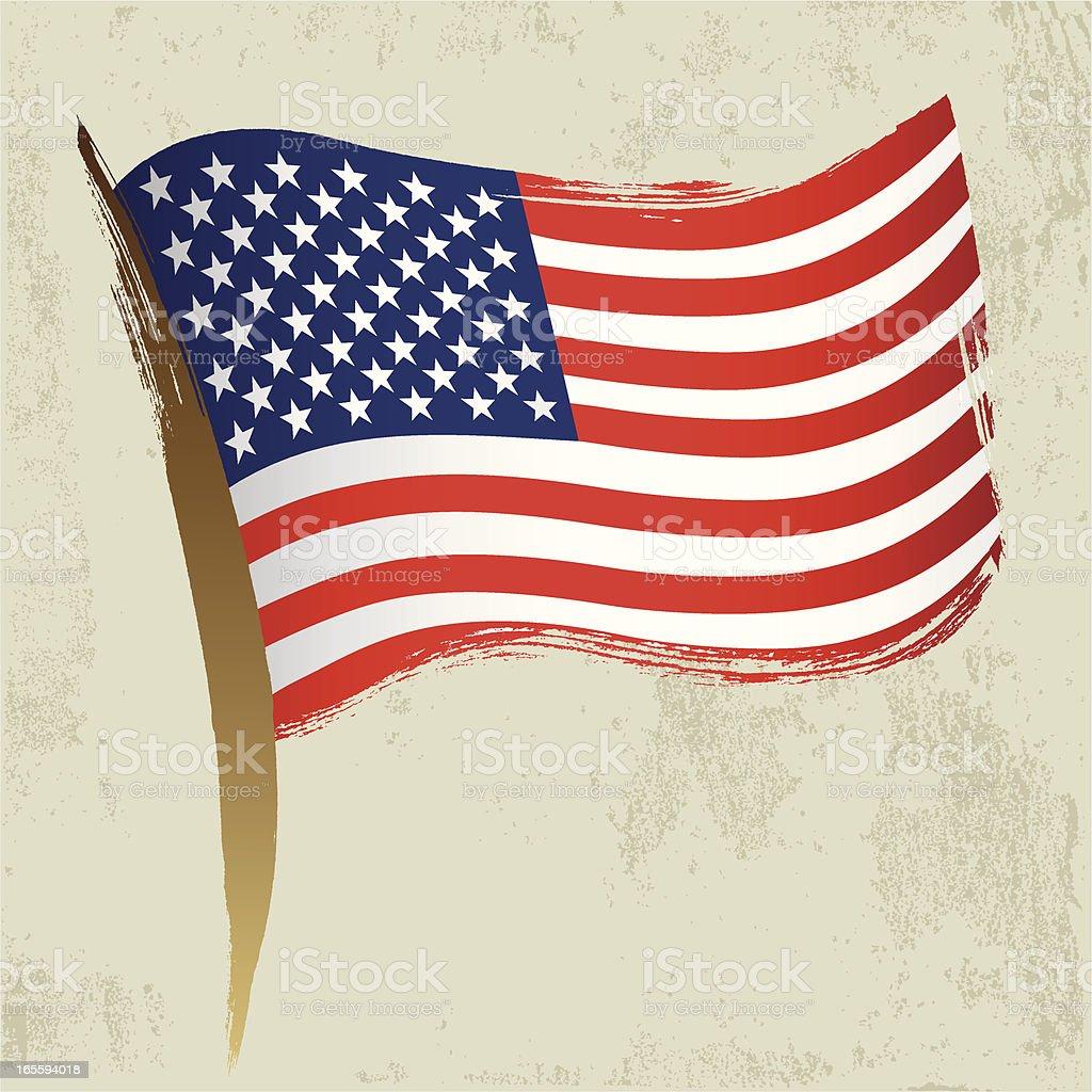 American National Flag royalty-free stock vector art