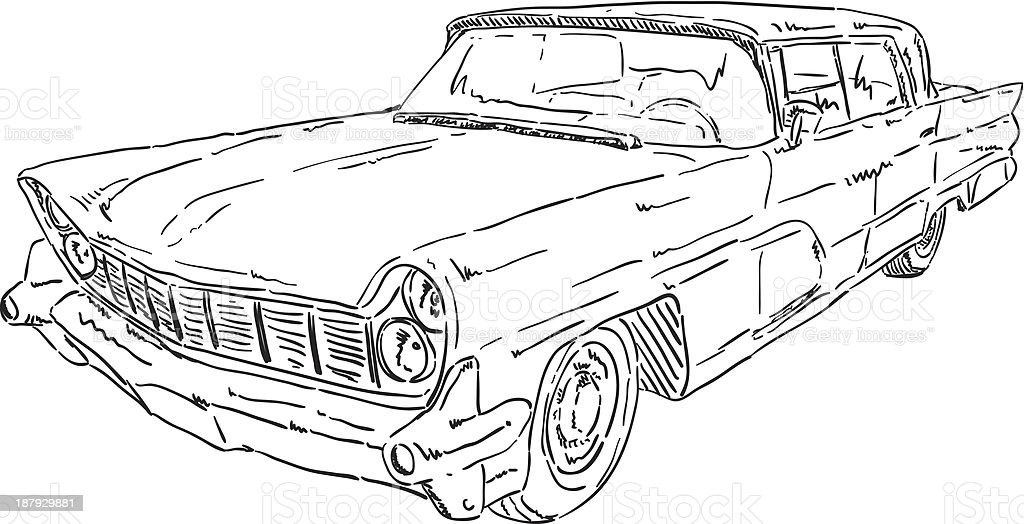 american old car royalty-free stock vector art