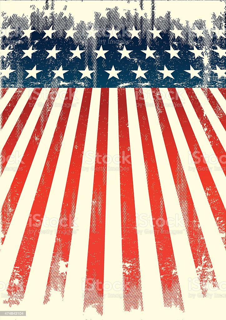 American old flag vector art illustration