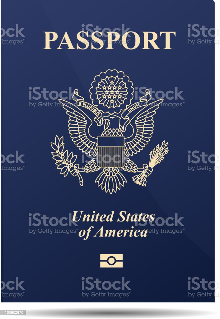 American Passport royalty-free stock vector art