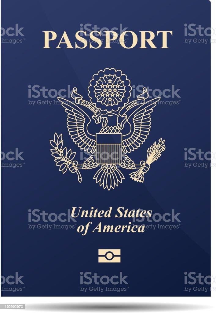American Passport vector art illustration