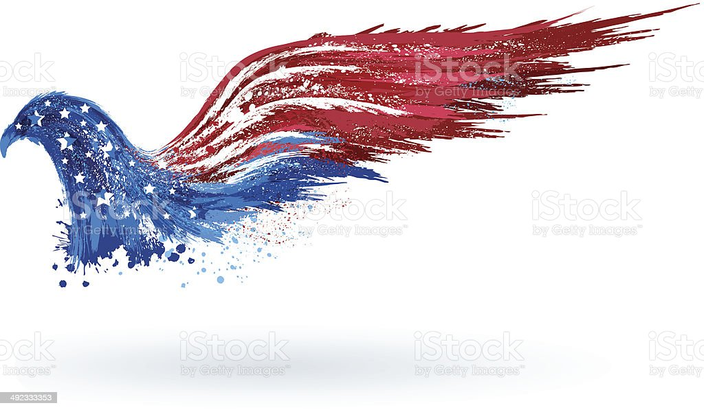 American patriotic eagle vector art illustration