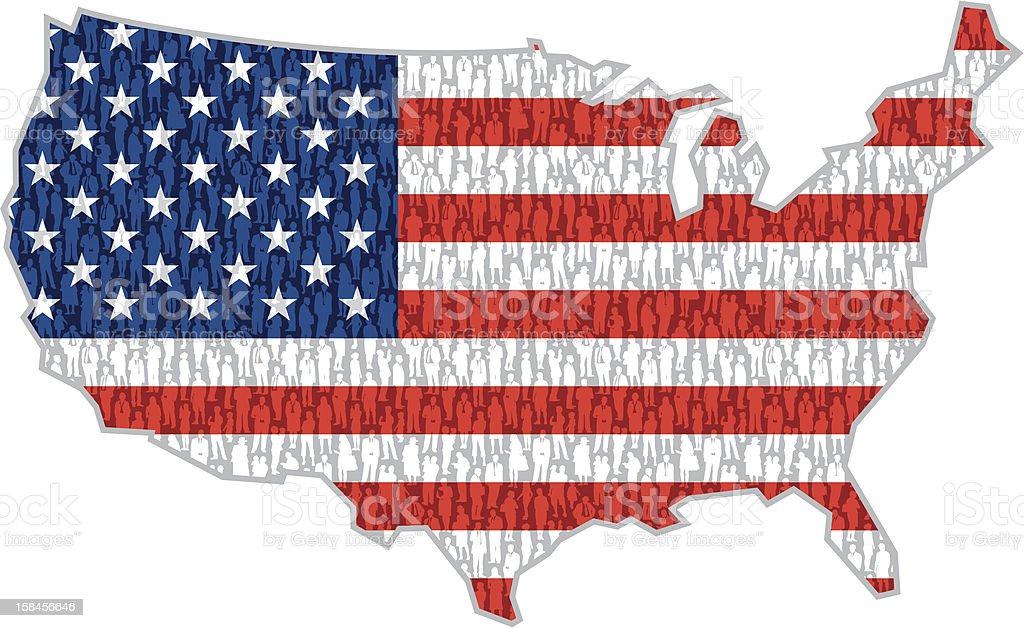 American people royalty-free stock vector art