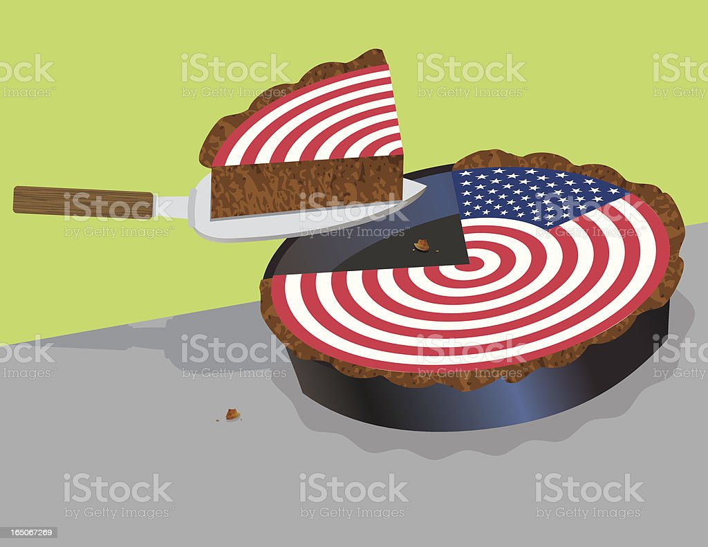 American Pie vector art illustration