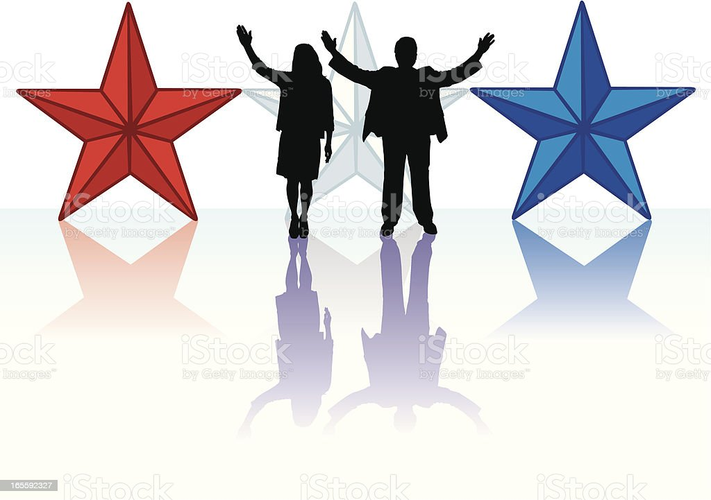 American Political Candidates royalty-free stock vector art