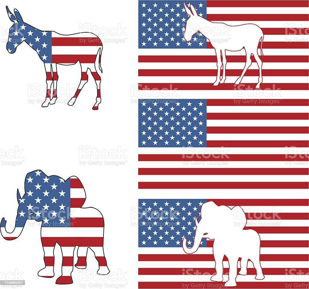 American political symbols royalty-free stock vector art