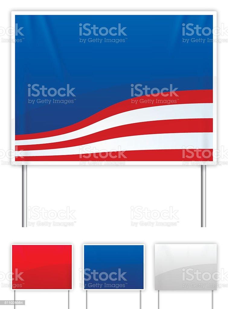 American Political Yard Signs vector art illustration