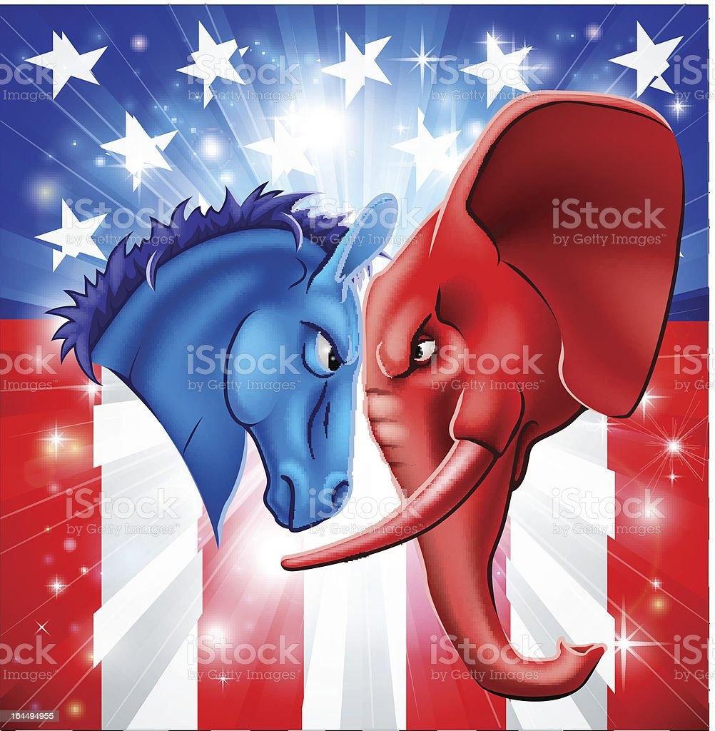 American Politics Concept vector art illustration