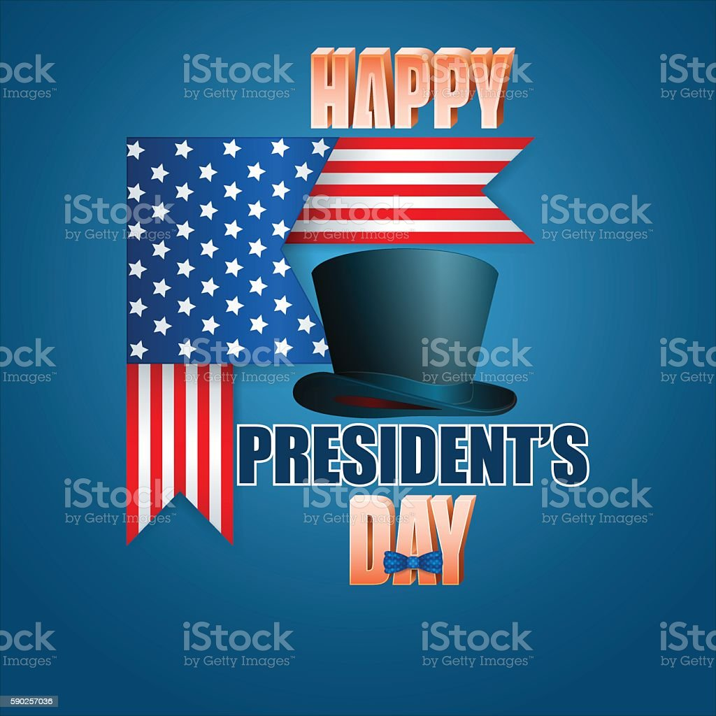 American President's Day vector art illustration