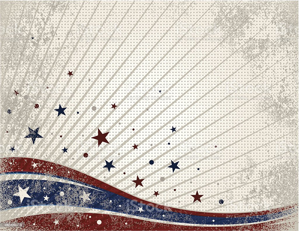 American Pride Grunge vector art illustration