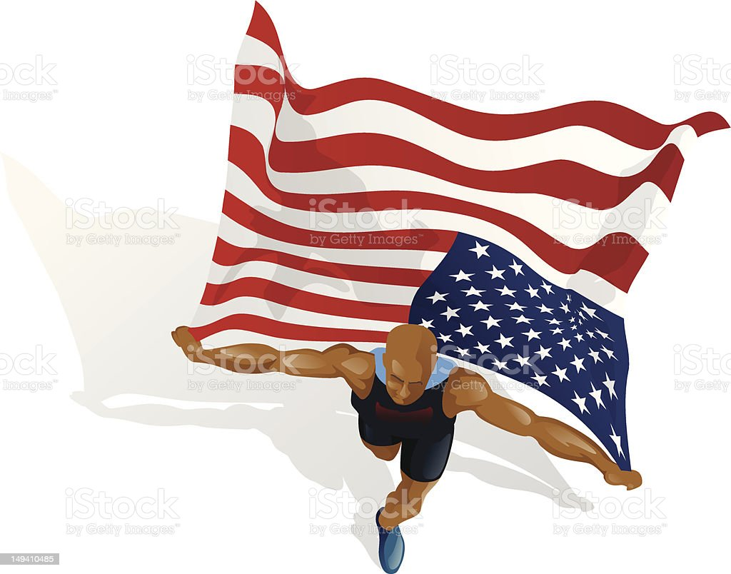 American Race Winner royalty-free stock vector art