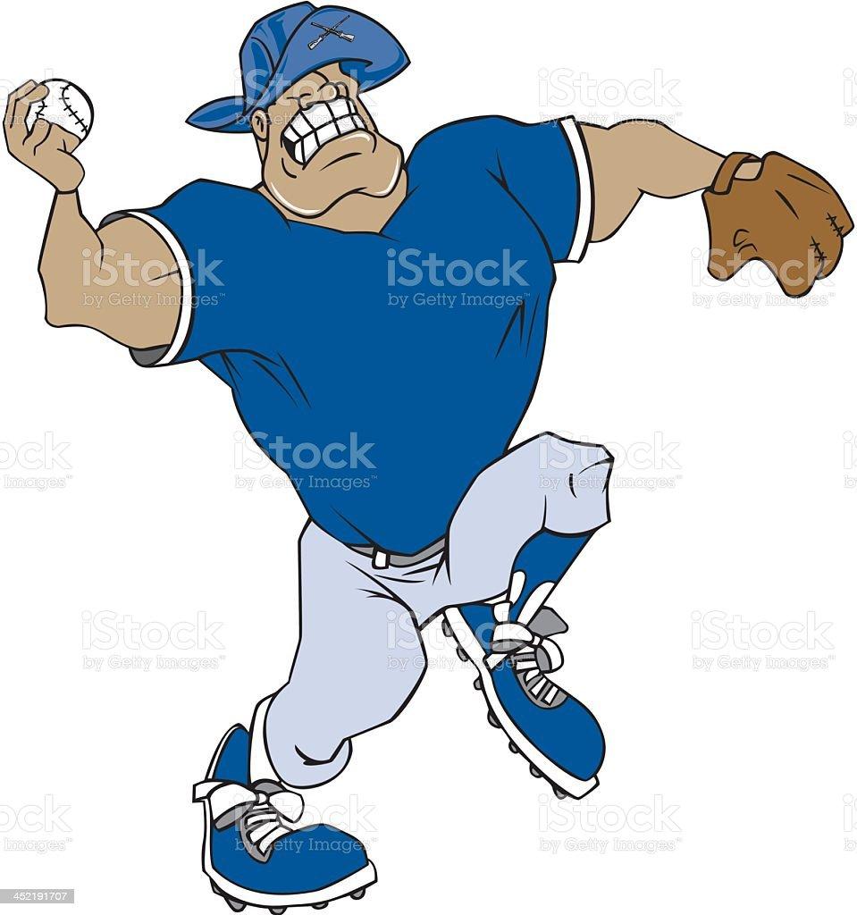 American Revolution Soldier Plays Baseball vector art illustration