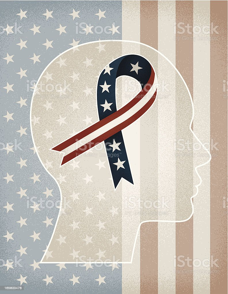 American Ribbon Head royalty-free stock vector art