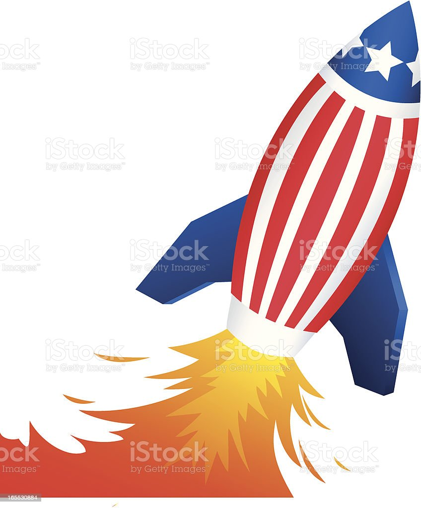American Rocket royalty-free stock vector art