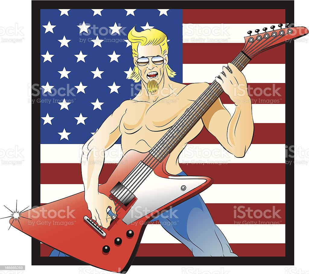 American Rockstar royalty-free stock vector art