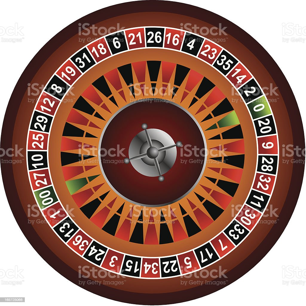 American roulette vector art illustration