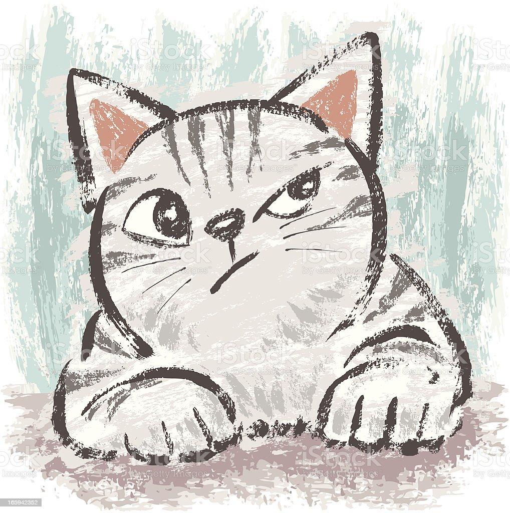 American Shorthair cheeky vector art illustration