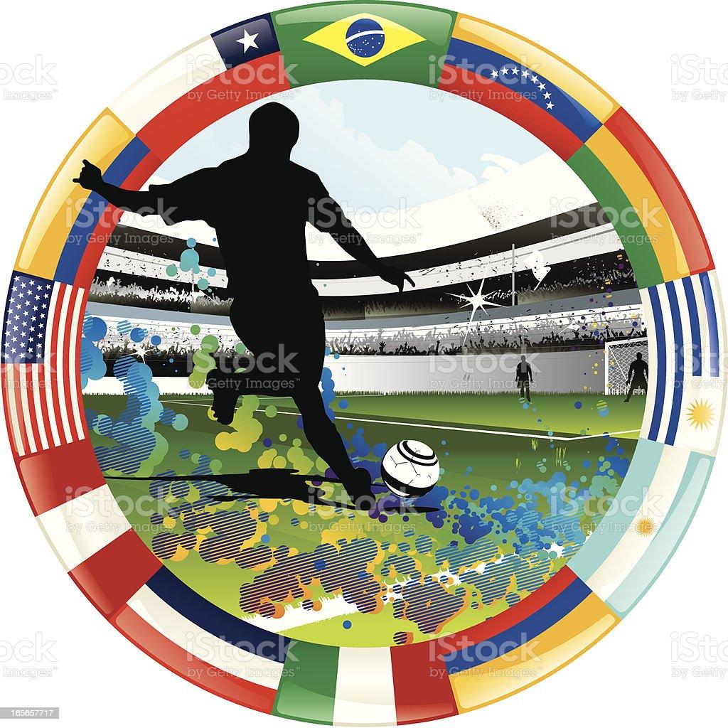 American soccer royalty-free stock vector art