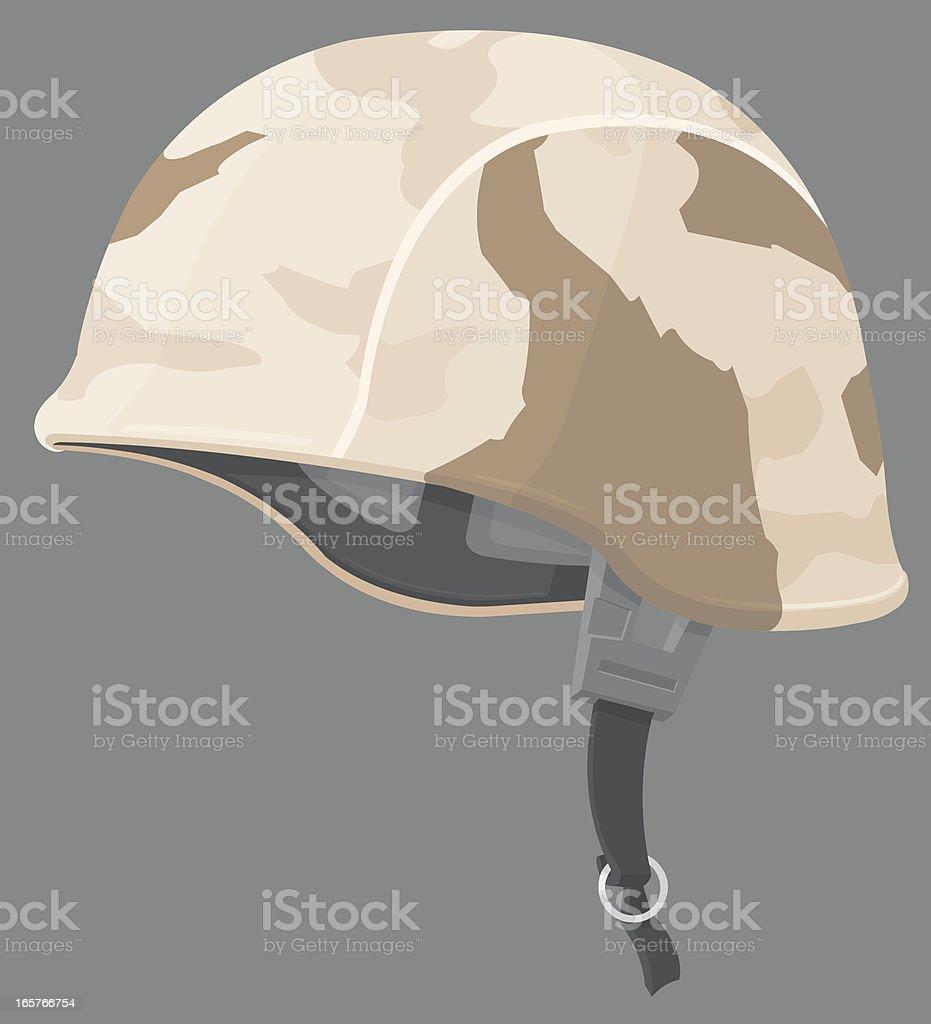 American Soldier's Helmet. vector art illustration