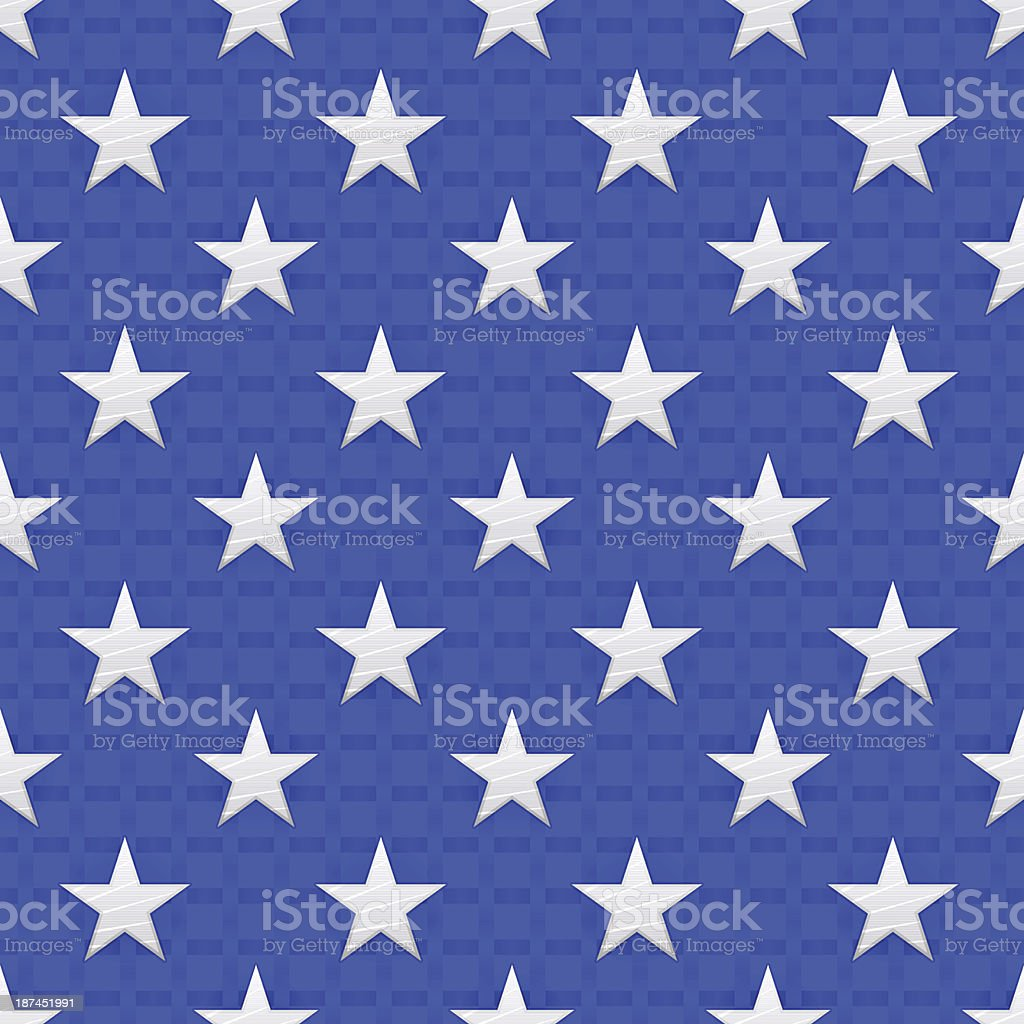 American Stars vector art illustration