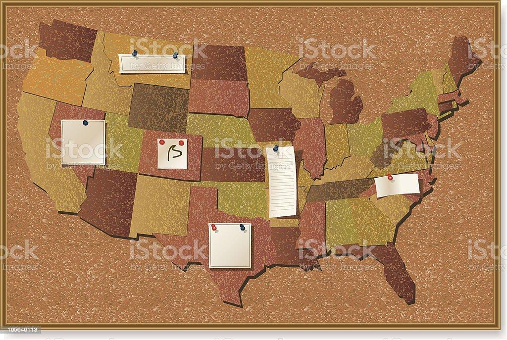 American states billboard royalty-free stock vector art