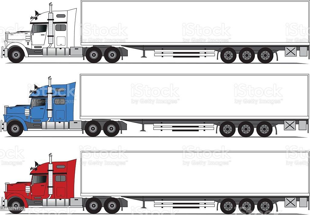 American style truck vector art illustration