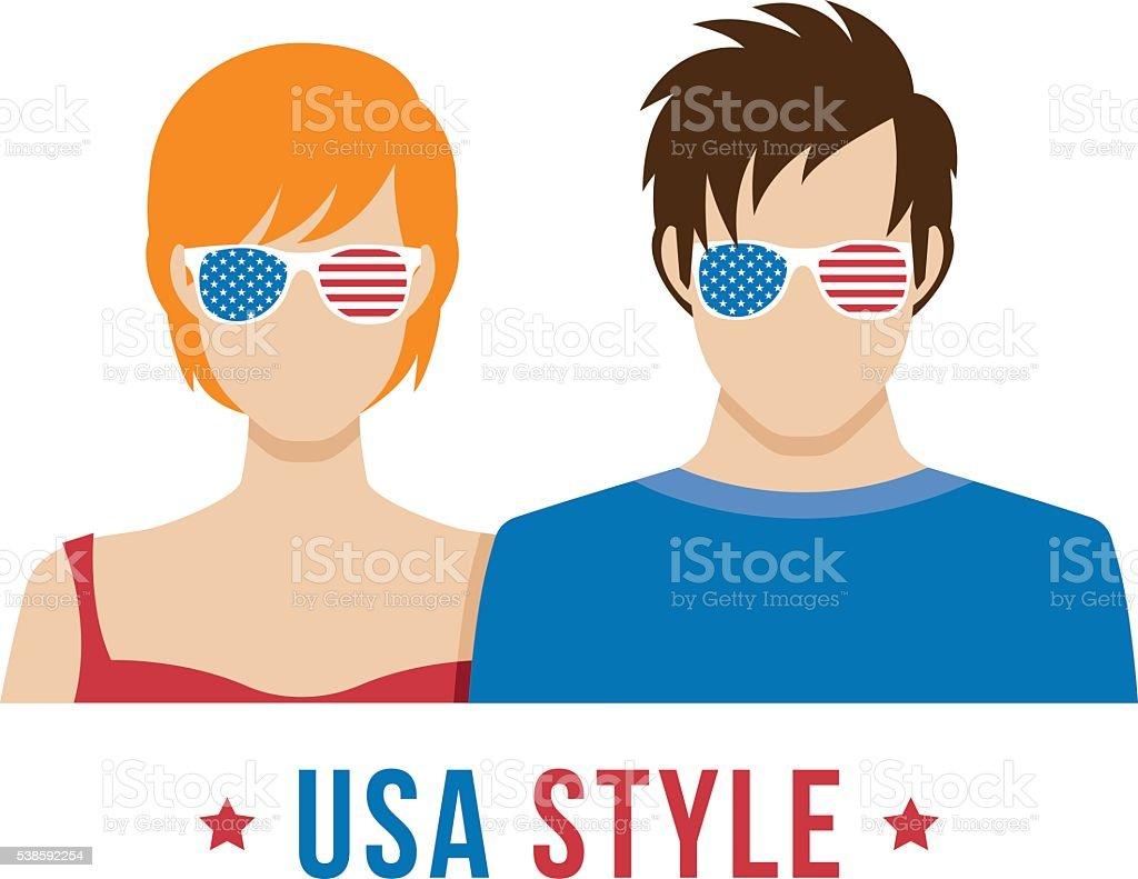 American STYLE vector art illustration