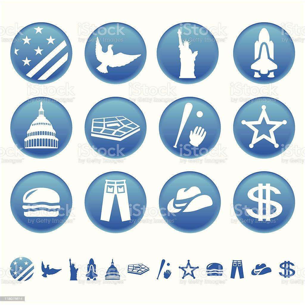 American symboles stock vecteur libres de droits libre de droits