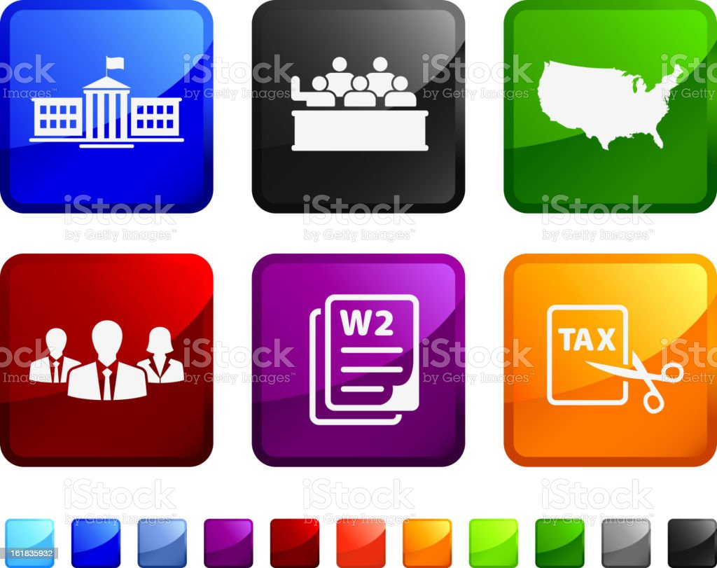 American tax cut deal royalty free vector icon set vector art illustration