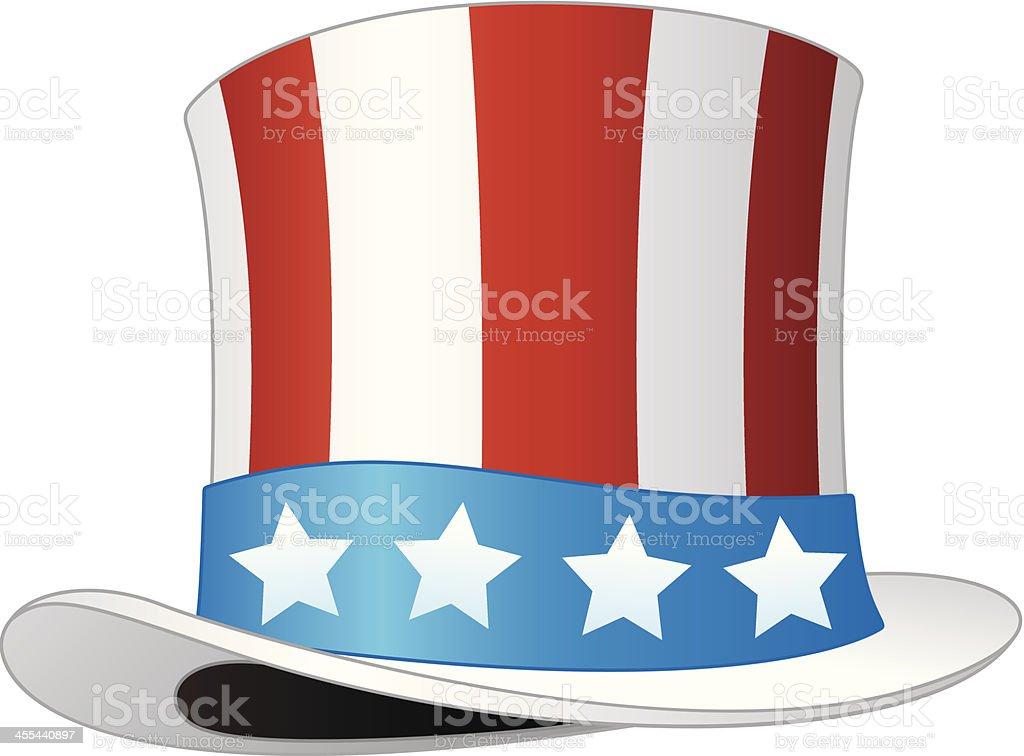 American Top Hat royalty-free stock vector art