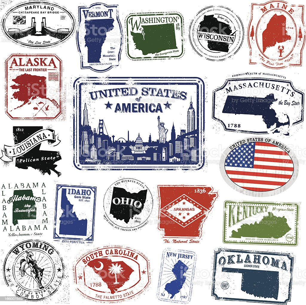 American Travel Splendor vector art illustration