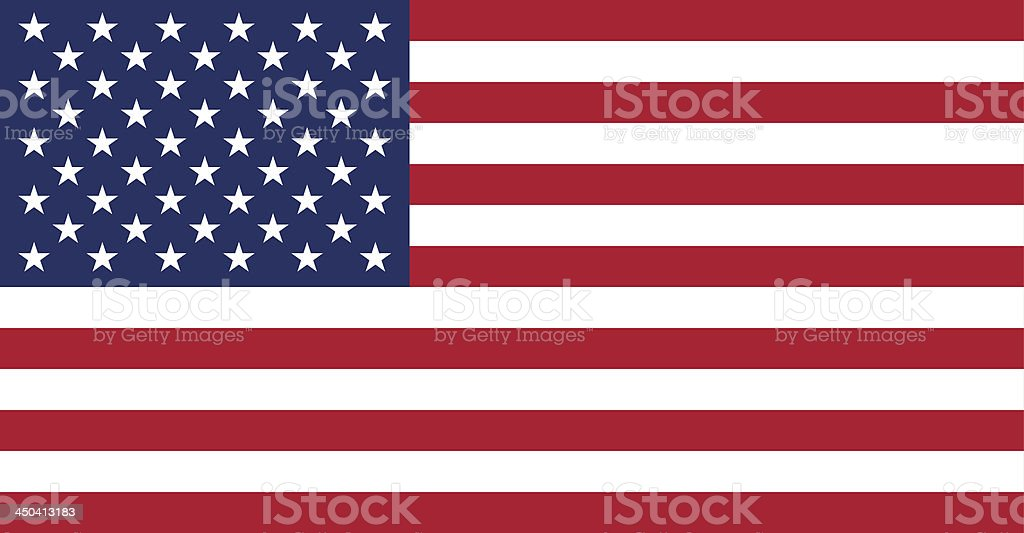 American USA Flag With Real Colours And Proportions Vector Illustration vector art illustration