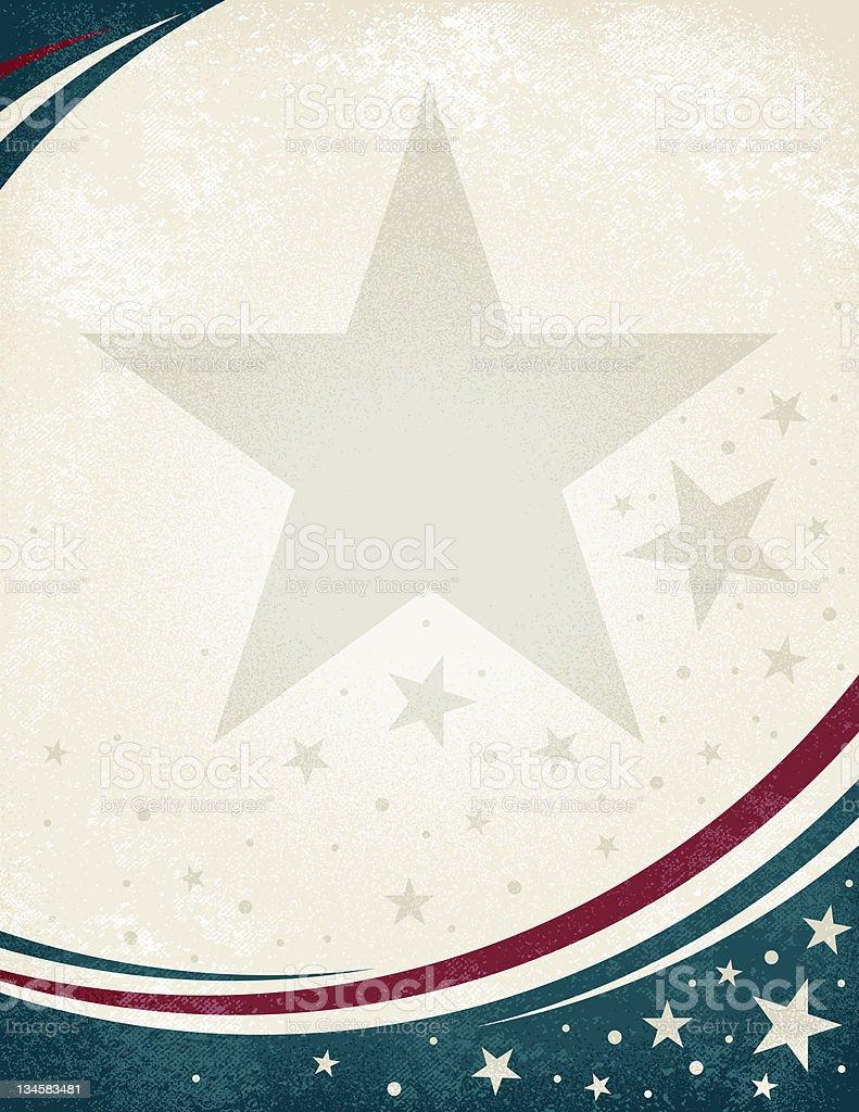 Americana Grunge royalty-free stock vector art