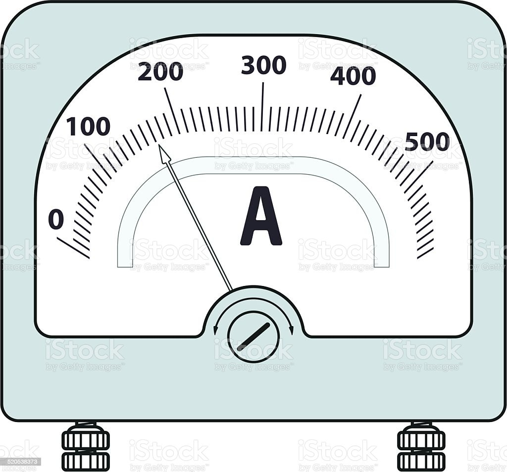 Ammeter Clip Art : Ammeter stock vector art istock