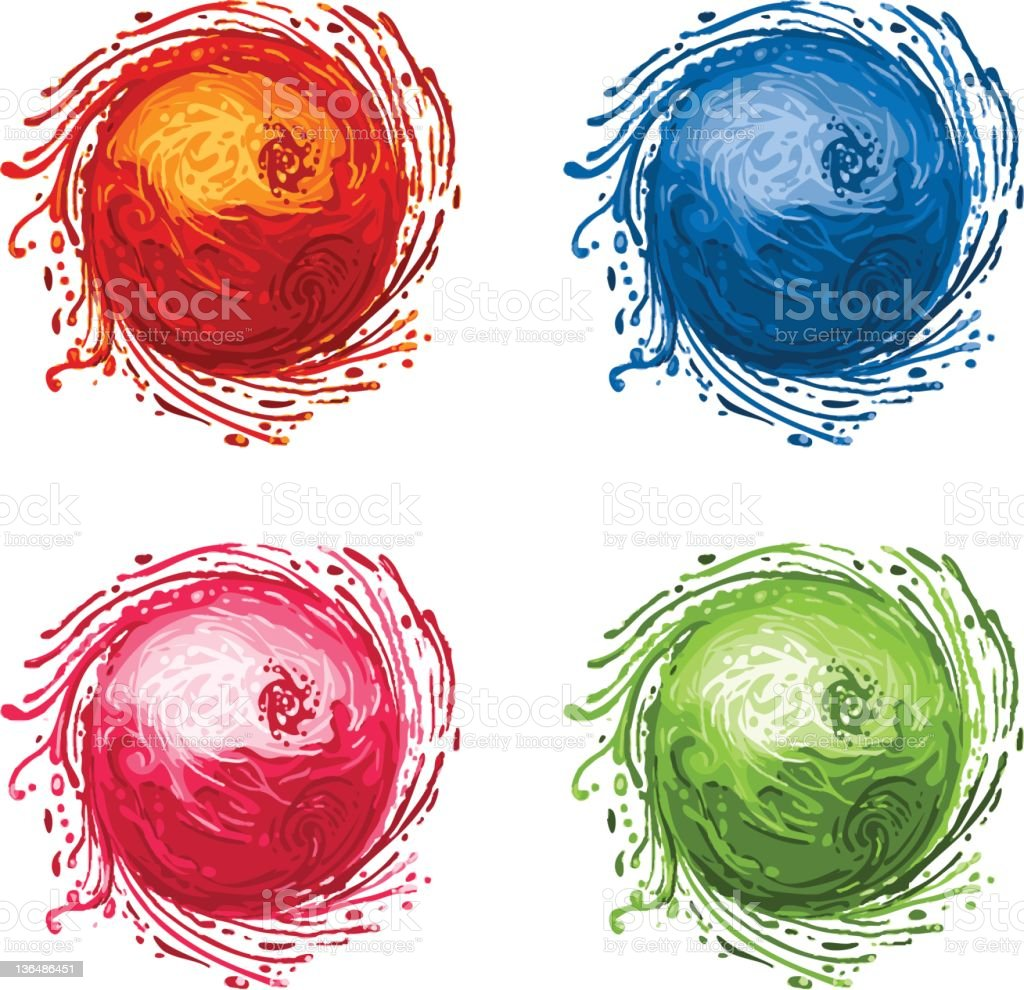 amorphous balls royalty-free stock vector art