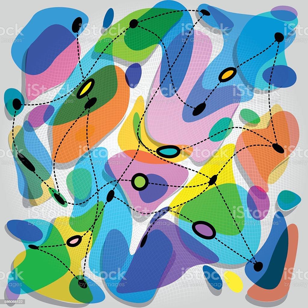 amorphous forms vector art illustration