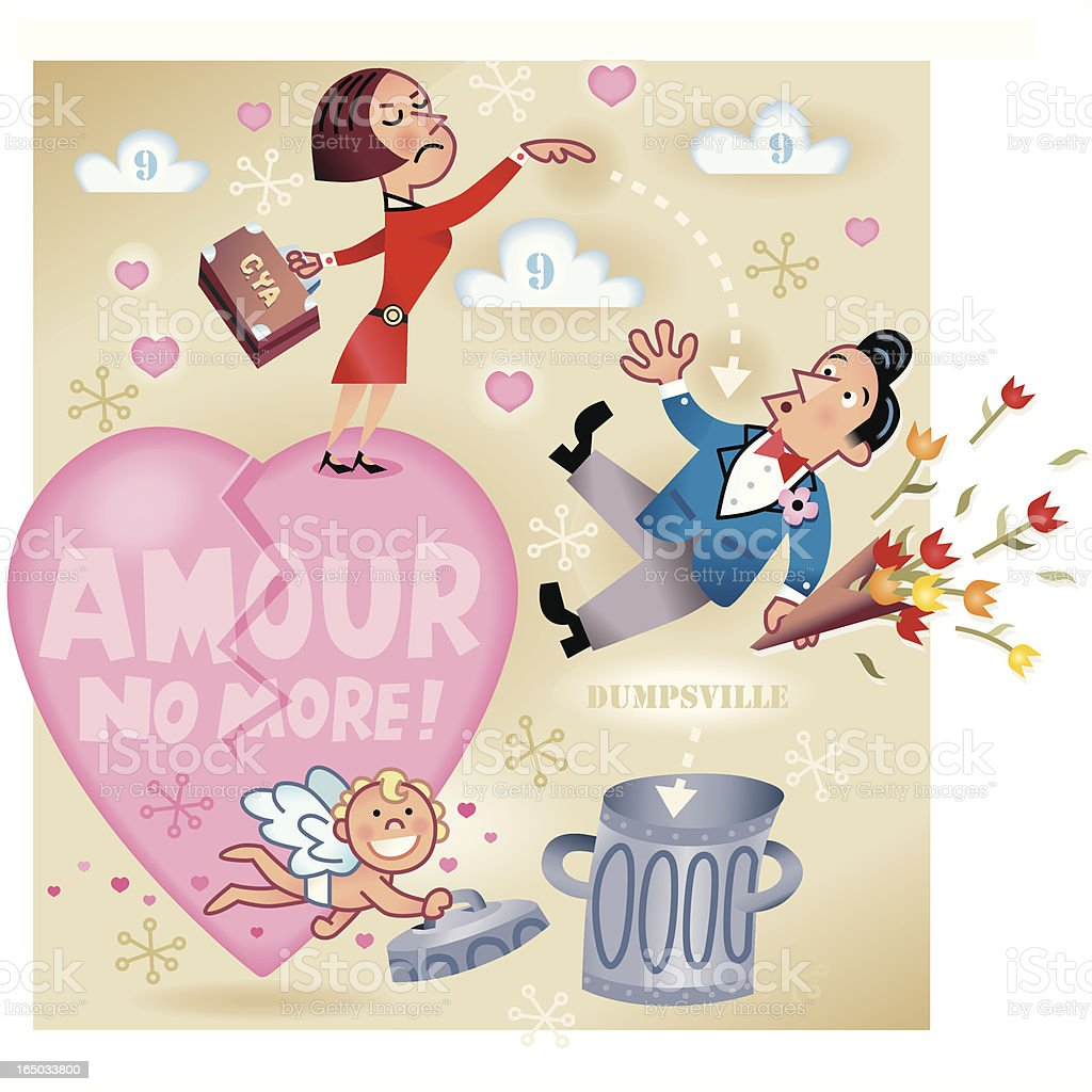 Amour No more royalty-free stock vector art