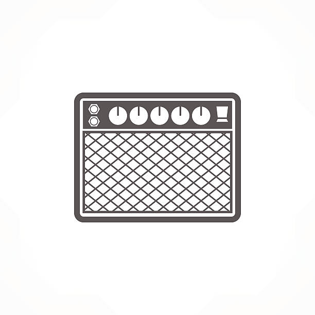 Guitar And Amplifier Clip Art, Vector Images & Illustrations - iStock