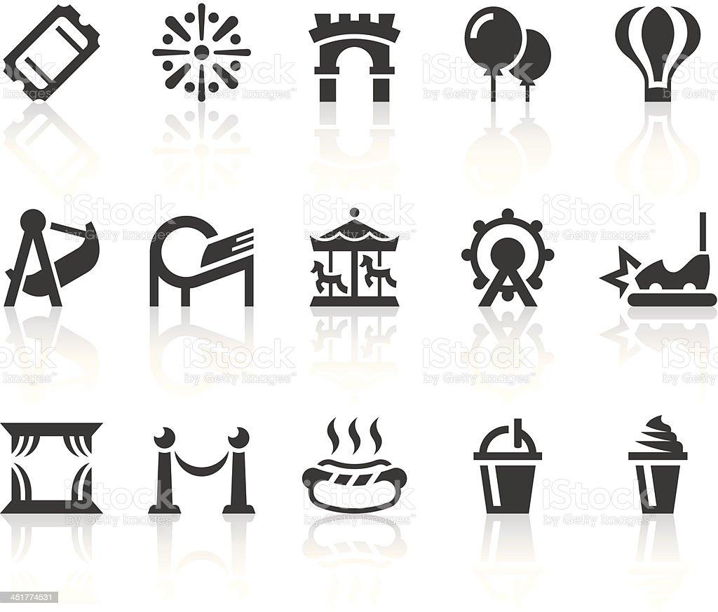 Amusement Park Icons | Simple Black Series vector art illustration