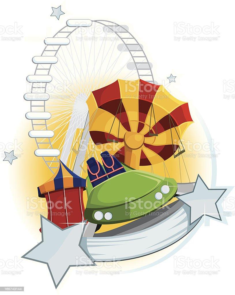 Amusement park stars. royalty-free stock vector art