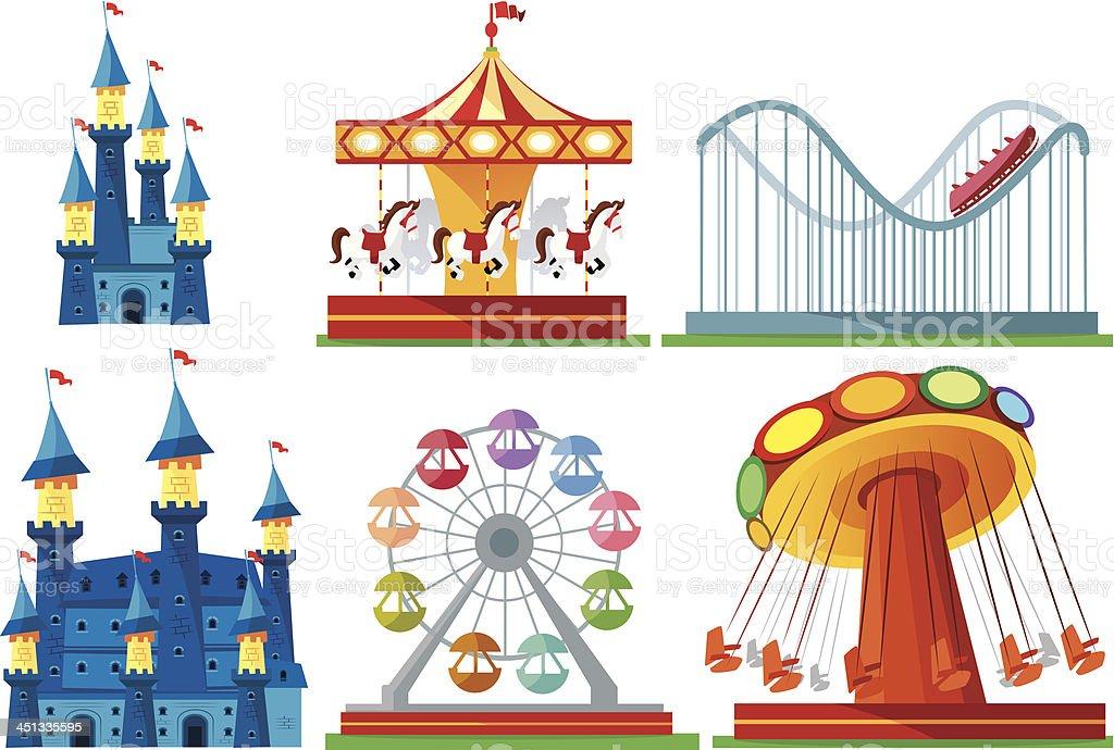 Amusement Park vector art illustration