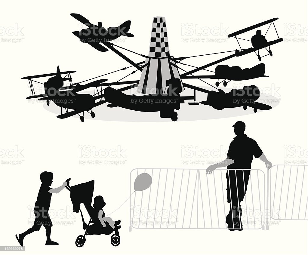 Amusement Park Vector Silhouette royalty-free stock vector art