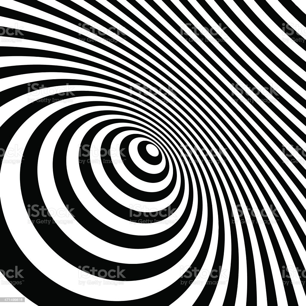 An abstract background of black and white stripes vector art illustration