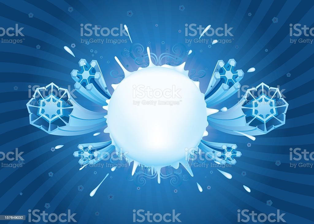 An abstract background of white and blue designs vector art illustration